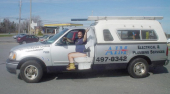 Funny Plumber Vehicle Wrap