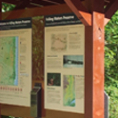Interpretive Sign Panels With Custom Wooden Roof Structure