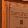 Dedication Plaque for The Carol Brown Prenatal Clinic