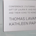 Laser Etched Satin Aluminum Plaque