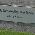 Etched Stainless Steel Plaques for Amphitheater Tiers