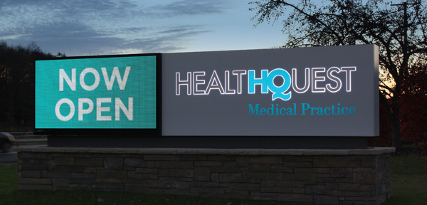 LED Displays and More at New Health Quest Location - Timely